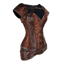 Steampunk Style Sexy Gothic Brown Vintage Retro Lace Up Bustier Corset image 2