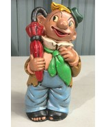 "Vintage 1974 Craft Ceramic 7"" Clown Figurine  - $15.23"