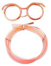 Black Temptation Set Of 3 Cute Cartoon Crazy DIY Sraw Funny Glasses Straws Orang - $11.79