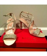 Kate Spade Felicity Gold Glitter Leather Women's Evening Sandals US 7.5 ... - $102.53