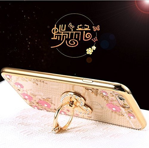Case for LG G6,Secret Garden Beauty Butterfly Floral Flower Bling Diamonds Soft