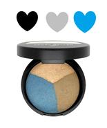 Laura Geller Baked Eye Pie Shadow BLUEBERRY MUFFIN Matte Gray & Blue + H... - $9.87