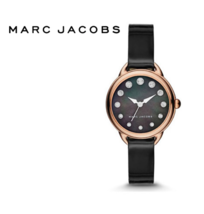 Marc Jacobs MJ1513 Betty Black Mother Of Pearl Dial Ladies Watch Nwt - $205.40
