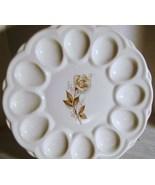 McCoy Antique Brown Rose Eggplate - $12.00