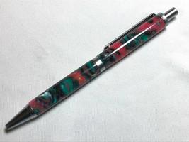 Slimline pro click pen, multicolor acrylic, satin chrome hardware, Parker refill - $26.73