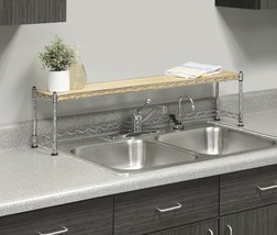 Over Sink Shelf Stand Kitchen Rack Storage Soap Plants Stand Organizer H... - $784,03 MXN