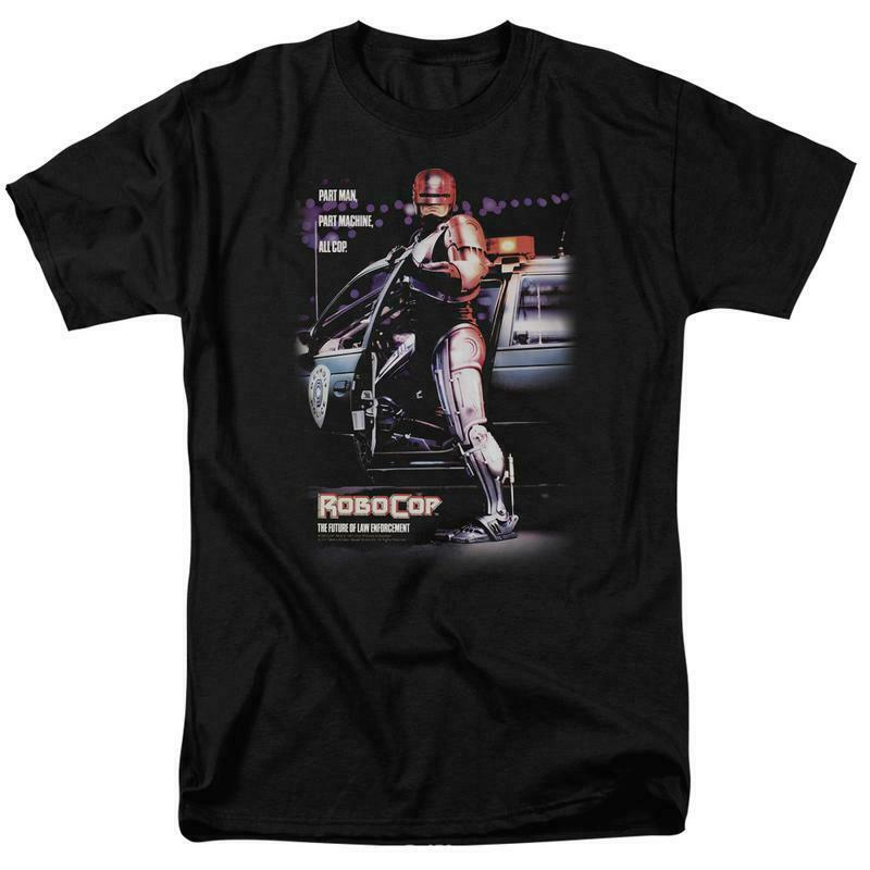 RoboCop Retro 80s action movie Peter Weller Cyborg graphic t-shirt MGM105