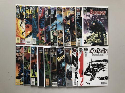 Lot of 22 Batman (1940) from #483-538 VF-NM Near Mint