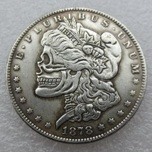 Rare Hobo Nickel 1878 CC USA Morgan Dollar Skull Design Hand Made High Q... - $11.99