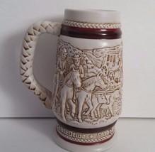 Avon 1983 Cowboy Frontier Rodeo Roping Miniature Beer Stein Ceramarte Br... - $8.60