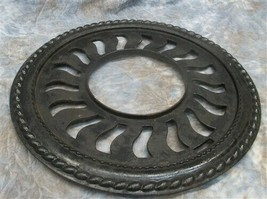 Cast Iron Round Stove Pipe Chimney Flue Cover Collar Ornate Grate Heat R... - $159.00
