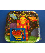"""Party Bots Toy 3D Robot Space Boys Kids Birthday Party 7"""" Square Dessert... - $4.99"""