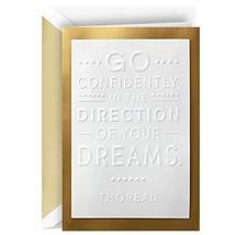 Hallmark Signature Congratulations Card or Graduation Card Thoreau Quote - $5.94