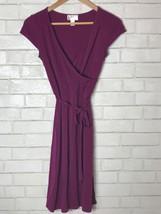 Ann Taylor Loft Women's Dress Short Sleeve Purple size 0 - $21.28
