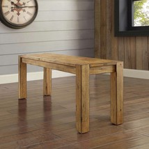Rustic Wood Dining Bench Country Farmhouse Furniture Entryway Hallway Se... - £110.19 GBP