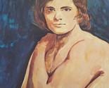 Vtg Nude Male Canvas Artwork Print Lambert Studios MCM Gay Interest Art 1970s