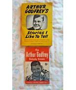 2 VTG ARTHUR GODFREY JOKE BOOKS: STORIES I LIKE TO TELL, THE AG NOBODY K... - $12.00