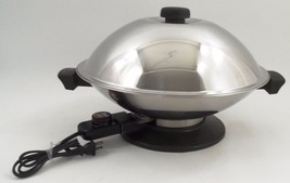 "EUC Meyer EW8300 Large 14"" Stainless Steel Fully Immersible Electric Wok... - $40.05"