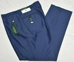 Lauren Ralph Lauren Dress Pants Men's 42x32 Classic Fit Flat Front Blue ... - $38.95