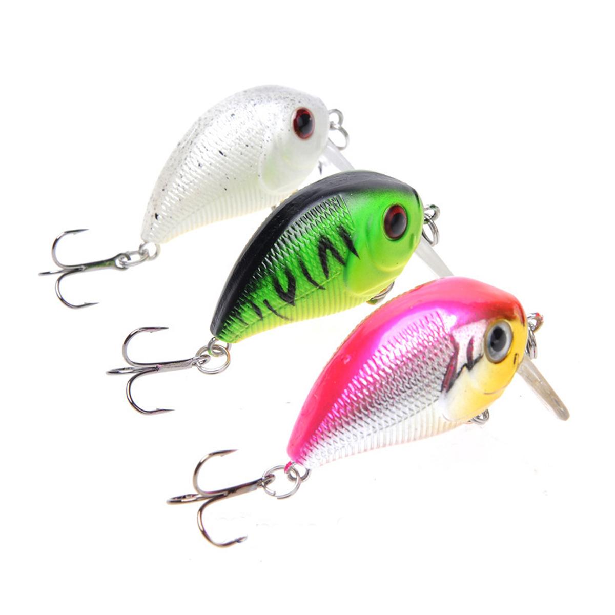 ZANLURE 1pc 5cm 8g Wobbler Fat Crankbait Fishing Lure Artificial Bass Hard Bait