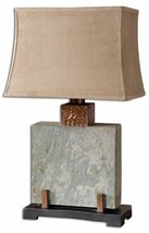 "Uttermost 26321-1 Slate Square Table Lamp 17 x 12 x 28.75"", 28.8"" L x 12... - $334.40"