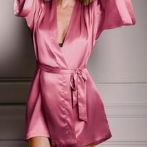 Victoria's Secret ✨NEW✨VERY SEXY Silky Satin Robe Kimono  LONG M/L  - $48.90