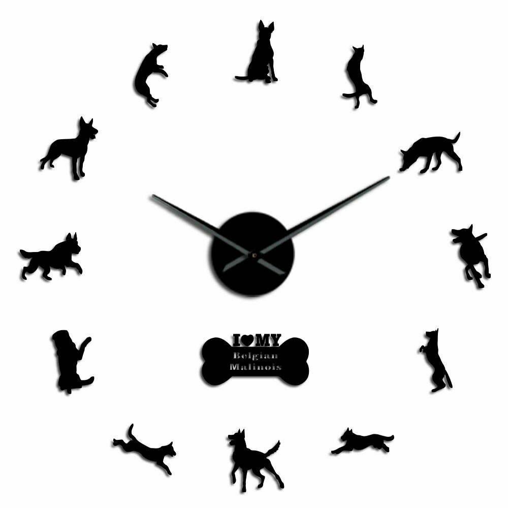 Primary image for K9 Security Dog Belgian Malinois  3D DIY Wall Clock Modern Creative Decor Gift