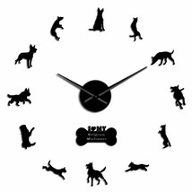 K9 Security Dog Belgian Malinois  3D DIY Wall Clock Modern Creative Deco... - $35.44+