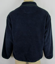 Woolrich Snap-T fleece jacket USA Made Navy Blue Mens Size L image 3