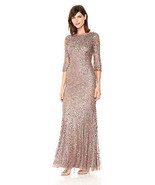 Adrianna Papell Women's Long Sleeve Beaded Dress - $249.99