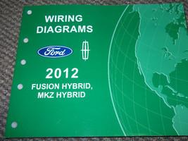 2012 Ford Fusion Lincoln Mkz Hybrid Cablaggio Schema Negozio Servizio Ma... - $9.89