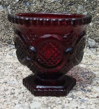 Avon Cape Cod 1876 Collection Ruby Red Vintage Open Sugar Bowl - $8.59