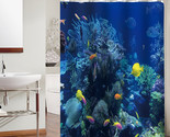 Ropical fish reefs polyester fabric bathroom waterproof shower curtains home decor thumb155 crop