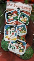 Bucilla Snowman Family Christmas Scrapbook Photo Album Felt Stocking Kit... - $39.95