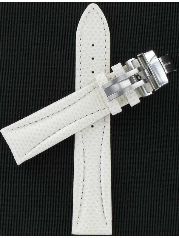 "Primary image for Hamilton 20mm White & Beige Leather Lloyd Series Watch Band ""H600194104"""