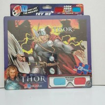 Thor The Mighty Avenger 3D Puzzle 28 Pieces With 3D Glasses Marvel 2011 ... - $14.99