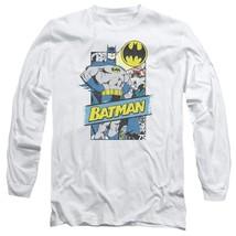 Batman DC Comics Superhero Retro Superhero Distressed long sleeve tee BM2414 image 1