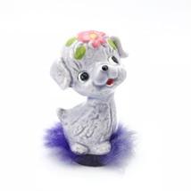 Vintage 1950s Purple Dog Napco Figurine Big Eyed Adorable Kitschy Fur Ka... - $19.54