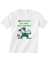 Notre Dame Fighting Irish Toddler T-Shirt Love Watching With Grandpa Tsh... - $15.00