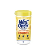 Wet Ones Antibacterial Hand Wipes, Tropical Splash Scent, 40 Count Canister - $3.95