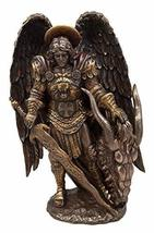 Atlantic Collectibles Catholic Church Saint Archangel Warrior Michael Holding Sa - $59.99