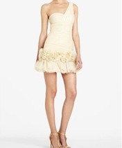 "BCBG Maxazria Dress Sz 12 Metallic Gold One Shoulder ""Barbie"" Cocktail P... - $127.53"