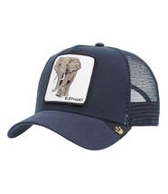 Goorin Bros Snapback Mesh Cap Animal Farm Trucker Hat Navy Elephant