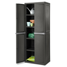 Tall Storage Utility Cabinet Shelves 4-Shelf Organizer Garage Basement L... - €107,73 EUR