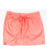 Gap Womens Pink Salmon Color Skirt Side Zip with bow Size 6 - $9.72