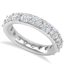 4.20 Ct Round Cut White Real Diamond 14K Gold Full Eternity Wedding Band... - €2.510,04 EUR