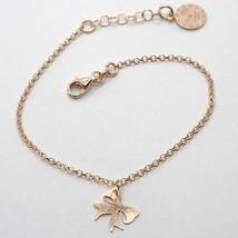 """925 Sterling Rose Silver """"Le Favole"""" Bracelet, Bow Flake Pendant, Tale, Watch - $44.65"""