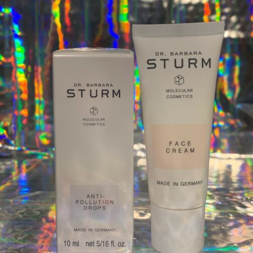 Dr. Barbara Sturm SEALED Anti Pollution Drops 10mL & Face Cream 20mL NEW UNUSED