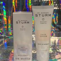 Dr. Barbara Sturm SEALED Anti Pollution Drops 10mL & Face Cream 20mL NEW UNUSED image 1