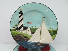 Sakura Warren Kimble Coastal Breeze Salad Plates Nautical Americana Bund... - $38.22